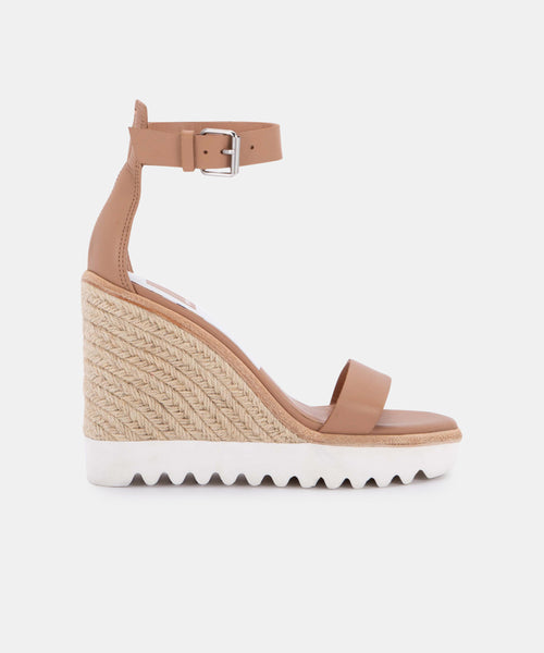 EDITH WEDGES IN CAFE LEATHER -   Dolce Vita