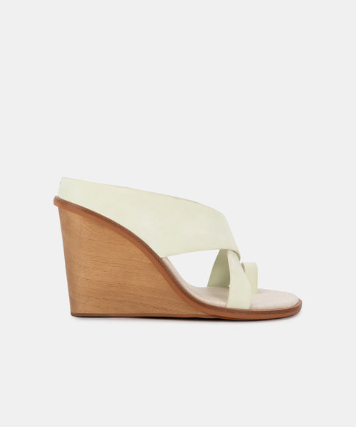 JAYLYN WEDGES IN MINT NUBUCK -   Dolce Vita