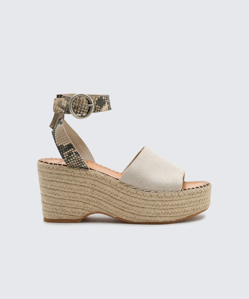LESLY WEDGES NATURAL -   Dolce Vita