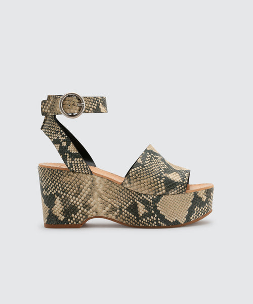 LESLY WEDGES IN SNAKE -   Dolce Vita