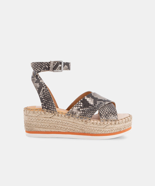 LEVIE SANDALS IN SNAKE PRINT -   Dolce Vita