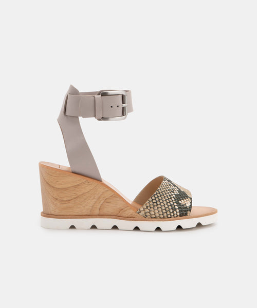 MELIKA WEDGES IN SNAKE -   Dolce Vita