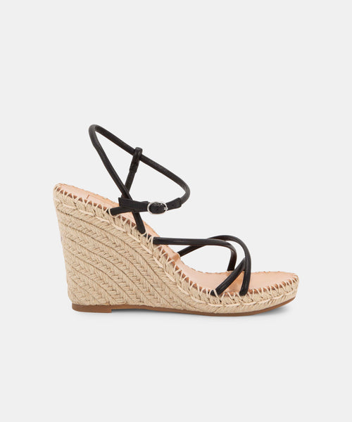 NADINE WEDGES IN BLACK -   Dolce Vita