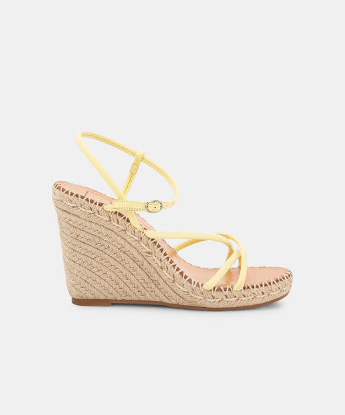 NADINE WEDGES IN CITRON -   Dolce Vita