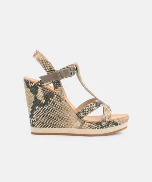 NATIAH WEDGES IN SNAKE -   Dolce Vita