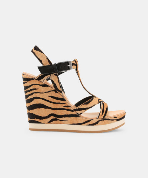 NATIAH WEDGES IN TIGER -   Dolce Vita