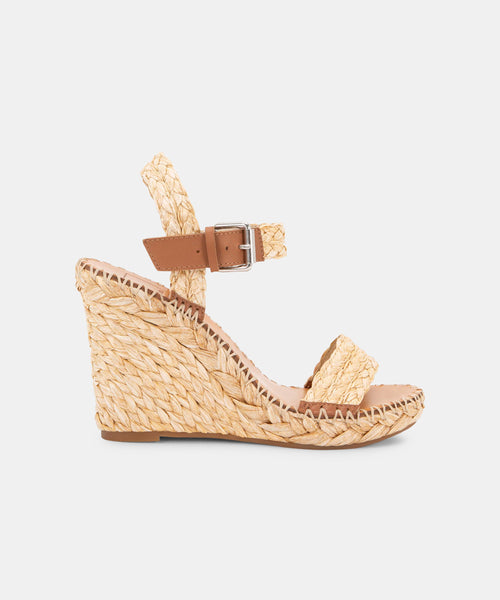 NIKO WEDGES IN NATURAL RAFFIA -   Dolce Vita