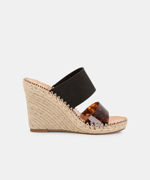 NINA WEDGES IN BLACK/TORTOISE -   Dolce Vita