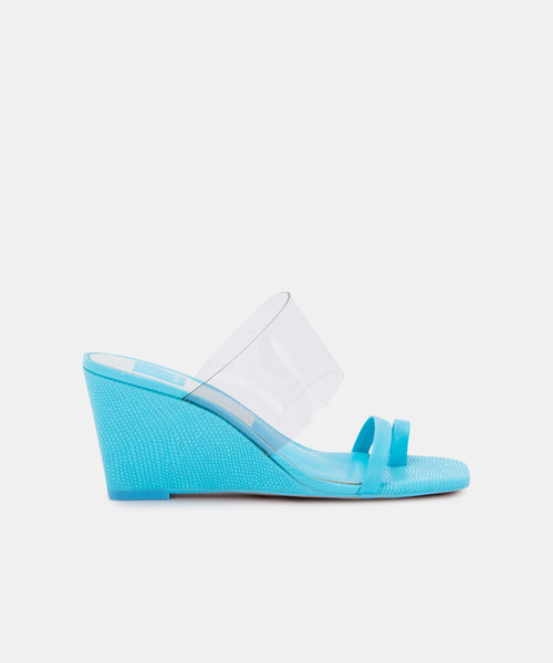 NONNA HEELS IN BRIGHT BLUE LEATHER -   Dolce Vita