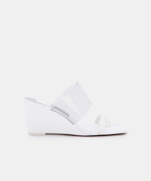 NONNA HEELS IN WHITE LEATHER -   Dolce Vita
