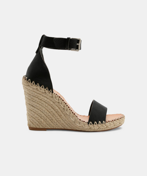 NOOR WIDE IN WEDGES BLACK -   Dolce Vita