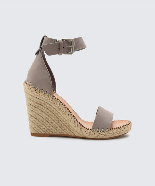 NOOR WEDGES IN GREY -   Dolce Vita