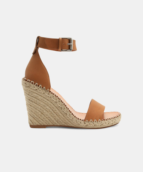 NOOR WIDE WEDGES IN TAN -   Dolce Vita