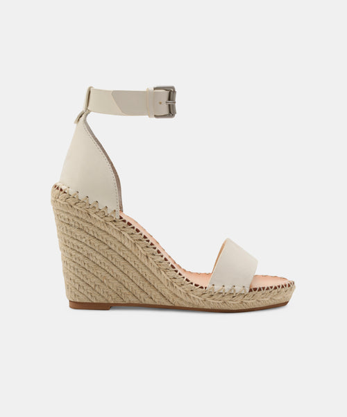 NOOR WIDE WEDGES IN WHITE