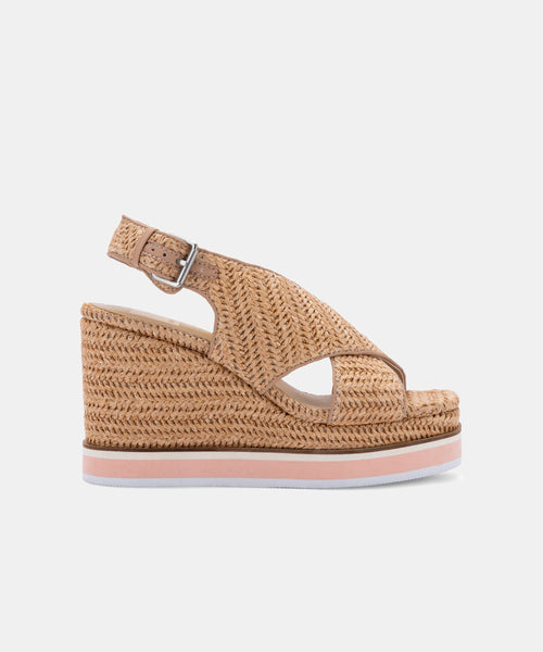 ODELIA WEDGES NATURAL RAFFIA -   Dolce Vita