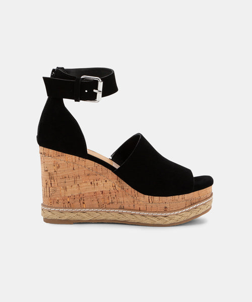 OTTO WEDGES IN BLACK -   Dolce Vita