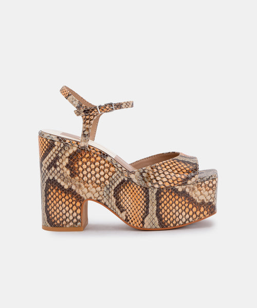 PORCHA HEELS IN TAN MULTI -   Dolce Vita