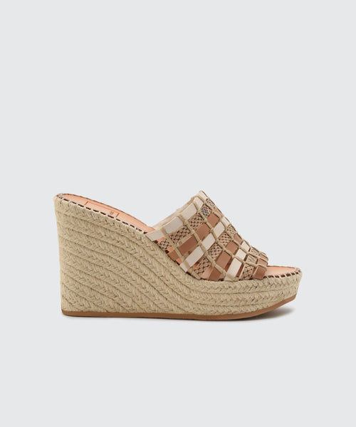 PRUE WEDGES IN NATURAL -   Dolce Vita