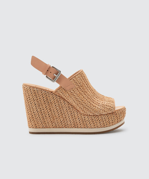 SHAN WEDGES IN NATURAL RAFFIA -   Dolce Vita