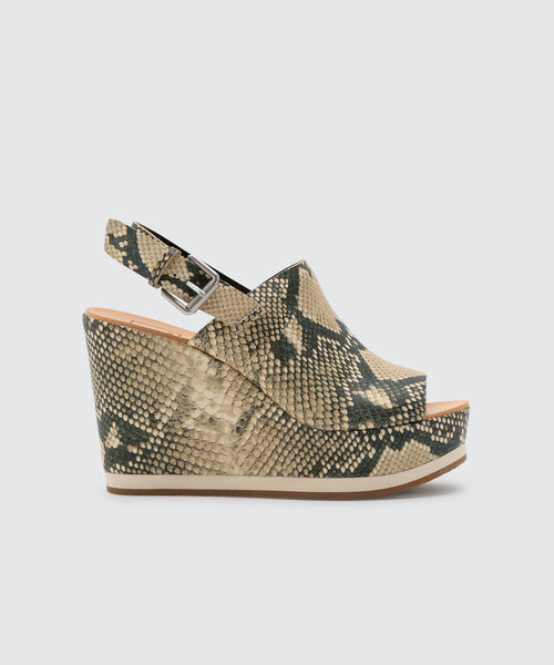 SHAN WEDGES IN SNAKE -   Dolce Vita