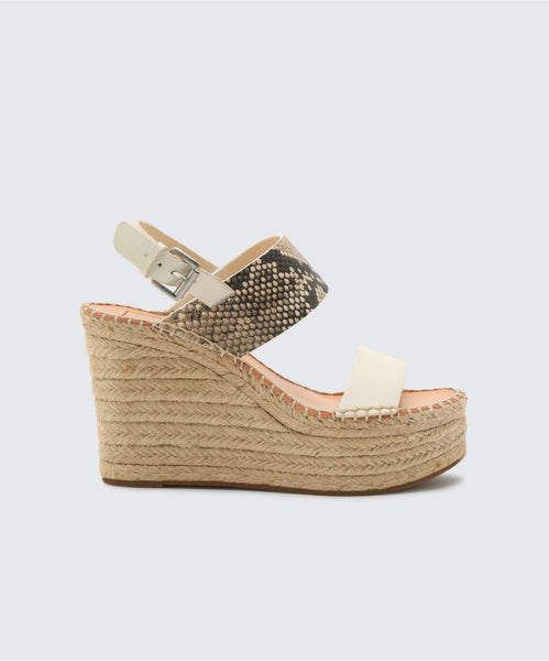 SPIRO WEDGES IN OFF WHITE -   Dolce Vita