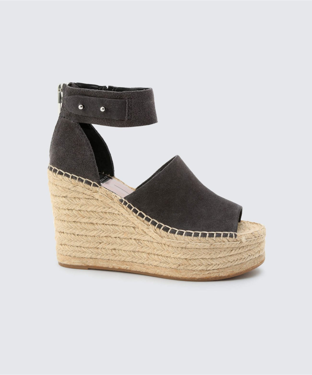 STRAW WEDGES IN ANTHRACITE -   Dolce Vita