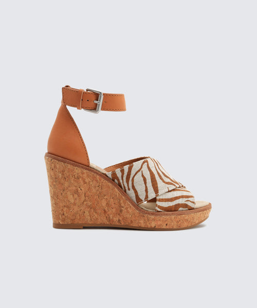 URBANE WEDGES IN BROWN ZEBRA -   Dolce Vita