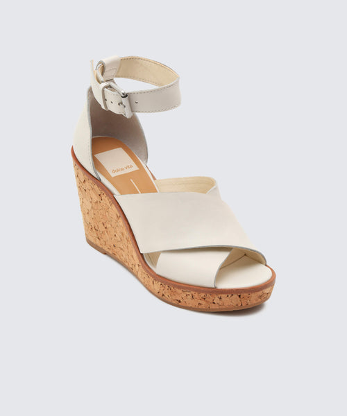 URBANE WEDGES IN OFF WHITE -   Dolce Vita