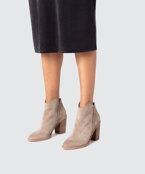 SHEP BOOTIES IN DK TAUPE -   Dolce Vita