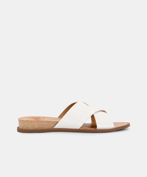 PRISCA SANDALS IN WHITE -   Dolce Vita