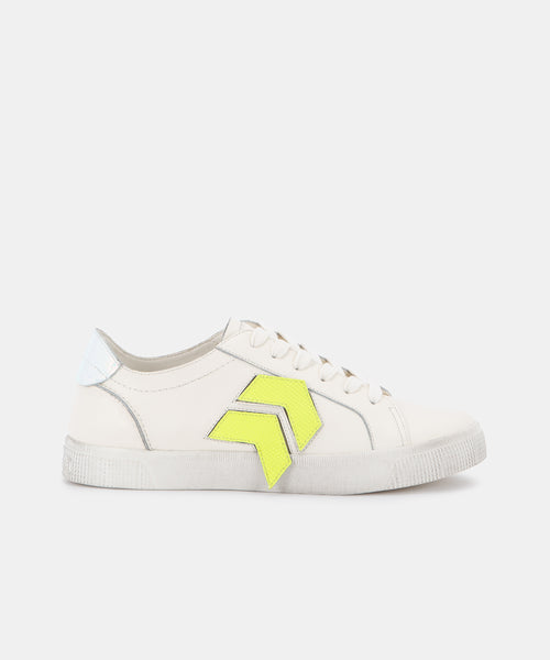 ZAGA SNEAKERS IN WHITE VELCRO -   Dolce Vita