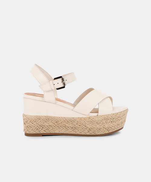 BARETT WEDGES IN WHITE -   Dolce Vita