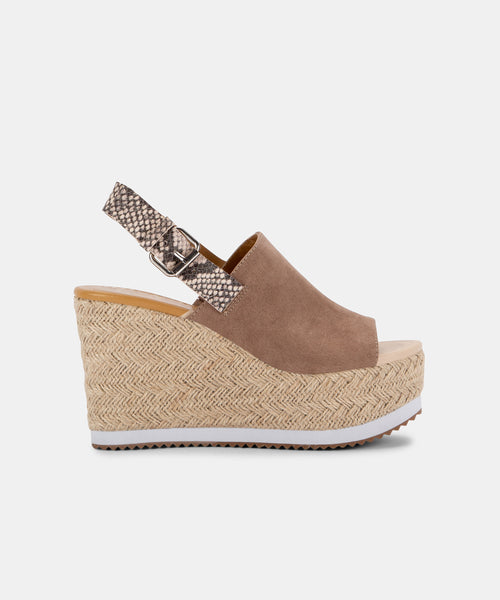 BELMA WEDGES IN ALMOND -   Dolce Vita