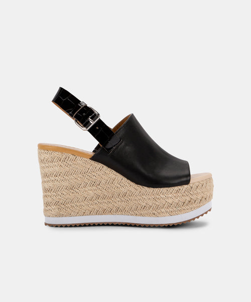 BELMA WEDGES IN BLACK -   Dolce Vita