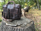 The Ashton. A handmade leather briefcase by Burghley Bags.