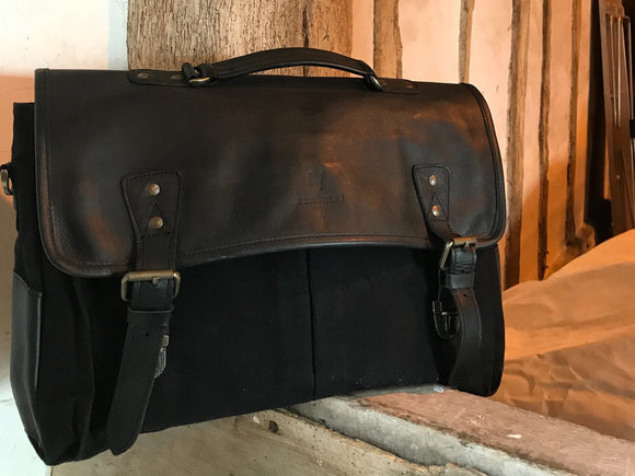 Barholm Briefcase/Messenger - Black (Grade 1)