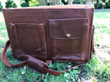 Barnack large vegetable tanned leather messenger bag