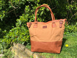 Bingham large handmade summer style leather tote bag