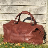 Boston hand made unisex classic leather holdall