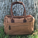 Breton casual crafted leather bag