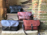 "The Dorrington Briefcase.  A classic 30's styled  leather briefcase by Burghley Bags. A handmade leather vintage work bag, with enough space for 15"" laptops. Comes with an adjustable and detachable shoulder strap. Available in 4 colours."