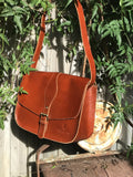 Classic leather saddle bag