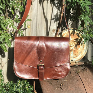 The Fairford. A classic leather saddlebag by Burghley Bags