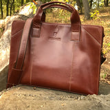 Easton classic leather briefcase