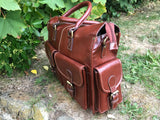 Exton elegant leather briefcase