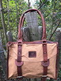 Wigham casual leather canvas bag