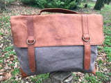 Granby women vintage leather casual briefcase