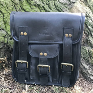 The Little Barrowby by Burghley Bags is smaller version of our retro style Barrowby Satchel. It's handmade from vegetable tanned leather and is available in black and brown.