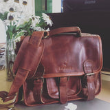 Little Somerby classic leather satchel bag
