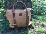 The Saltby. A versatile canvas and leather shoulder / tote bag from Burghley Bags